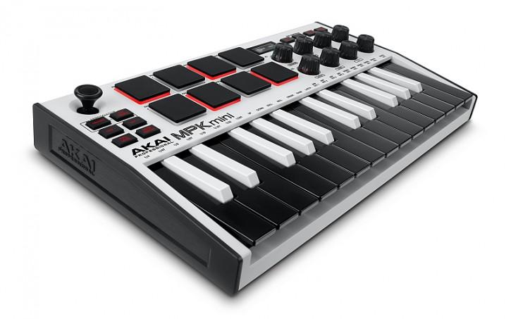 AKAI MPK Mini MK3 White USB-Midi-Tastatur