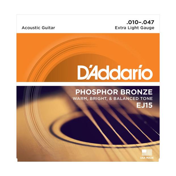 D'Addario EJ15 Phosphor Bronze 010-047