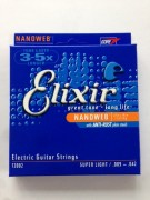 Elixir Nanoweb E-Gitarrensaiten Super Light 009-042