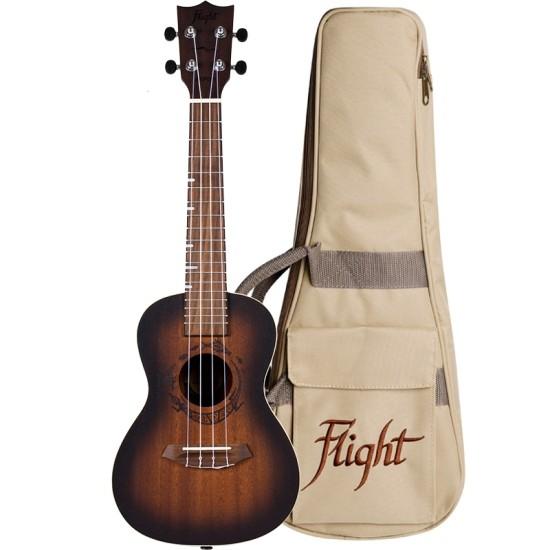 Flight Concert Ukulele DUC 380 Amber mit Tasche