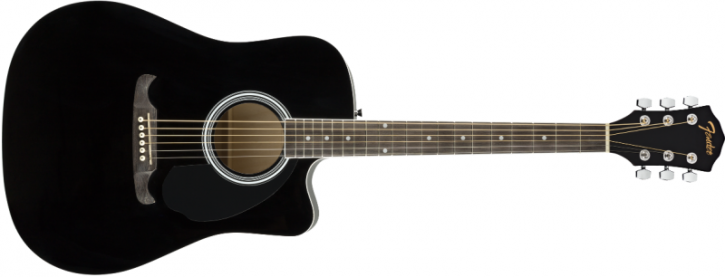 Fender FA-125CE Dreadnought Black WN