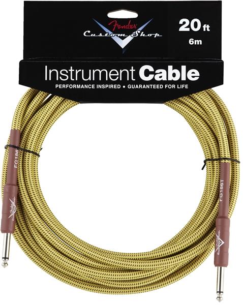 Fender Custom Shop Kabel 6 m Tweed FG20T