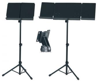 Basix Orchesterpult - Aufklappbar - schwarz
