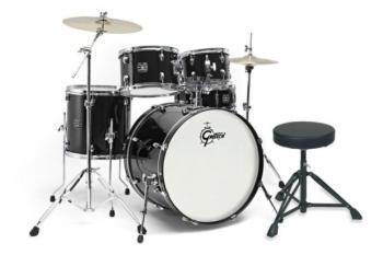 Gretsch Drumset Energy BLk -inkl.Paiste Becken,Hocker
