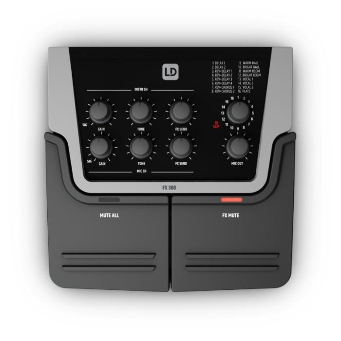 LD Systems FX 300 - 2 Kanal Pedal mit 16 dig. Effekten