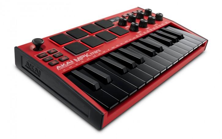 AKAI MPK Mini MK3 Red USB-Midi-Tastatur