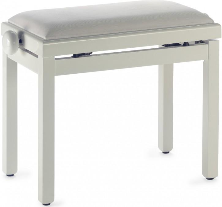 Pianobank Stagg PB39 Elfenbein hochglanz - Sitz weiß