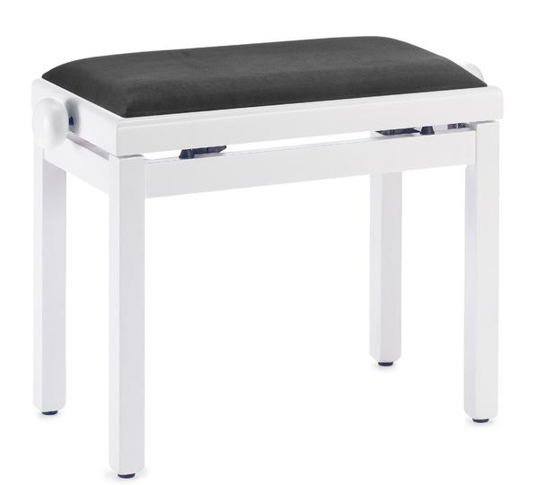 Pianobank Stagg PB39 weiß matt - Sitz schwarz