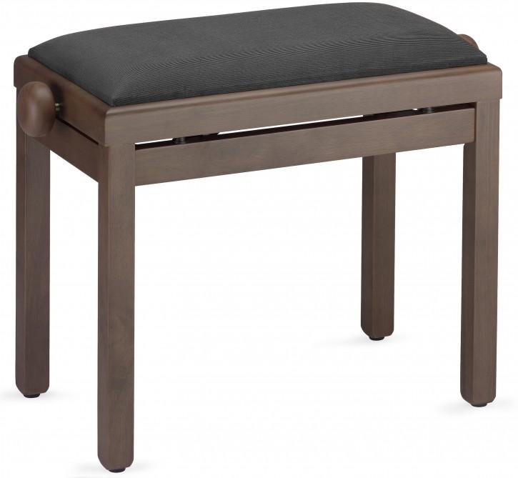Pianobank Stagg PB39 dunkle Nuss matt - Sitz schwarz