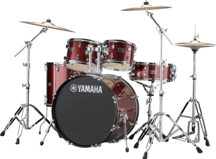 Drumset Yamaha Rydeen RDP2F5 Burgundy Glitter (inkl. Hardware)