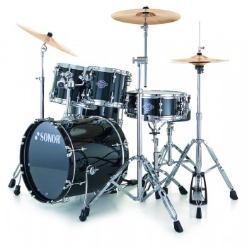 Sonor Smart Force Stage 1 Xtend Drumset Black mit Armoni Beckenset