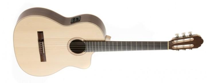 Gewa E-Konzertgitarre Pro Natura Walnut Silver 4/4 Samba