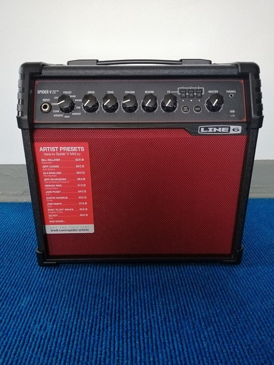 Line 6 Spider V 20 MK II Red Edition