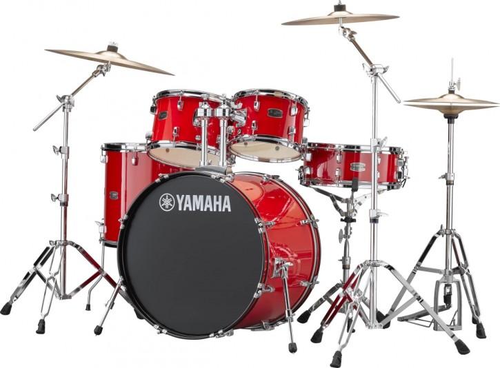 Drumset Yamaha Rydeen RDP2F5 Hot Red, Set mit Becken und Hardware