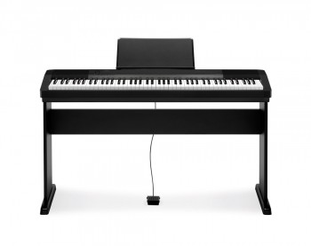 Casio CDP-130 BK Deluxe Set mit Holzstativ,Klavierbank und Kopfhörer