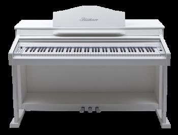 Blüthner E-Klavier E1 Lack  weiss satiniert
