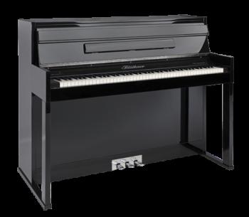 Blüthner E-Klavier Modell E2 schwarz hochglanz Lack