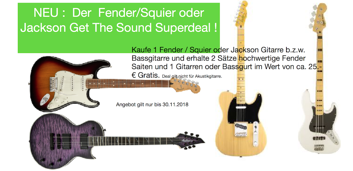 FENDER/Squier/Jackson DEAL-2018