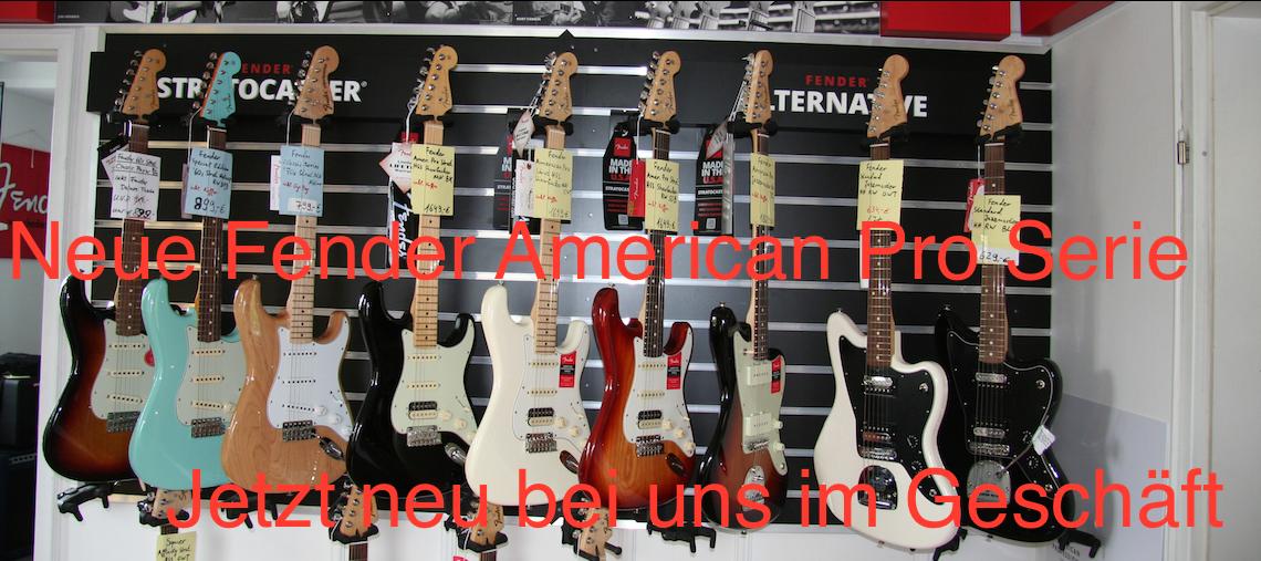 Neue Fender American Pro Serie