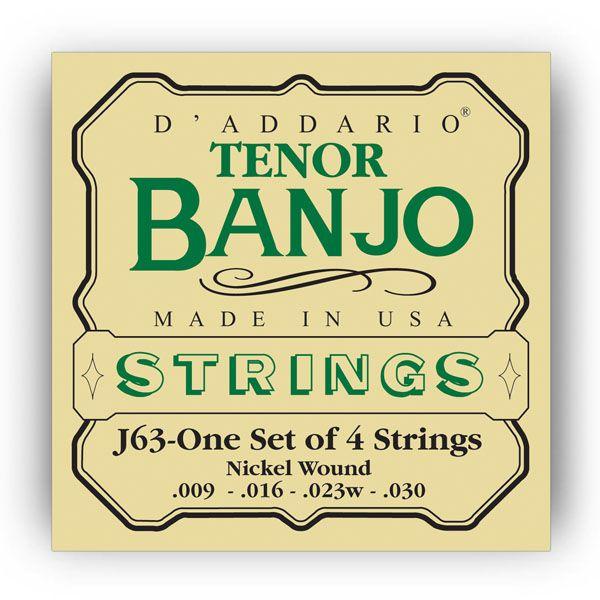 D'Addario J63 Tenor Banjo 4-Saiter Satz