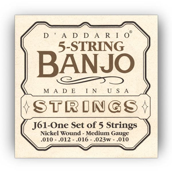 D'Addario J61 Banjo 5-Saiter Satz