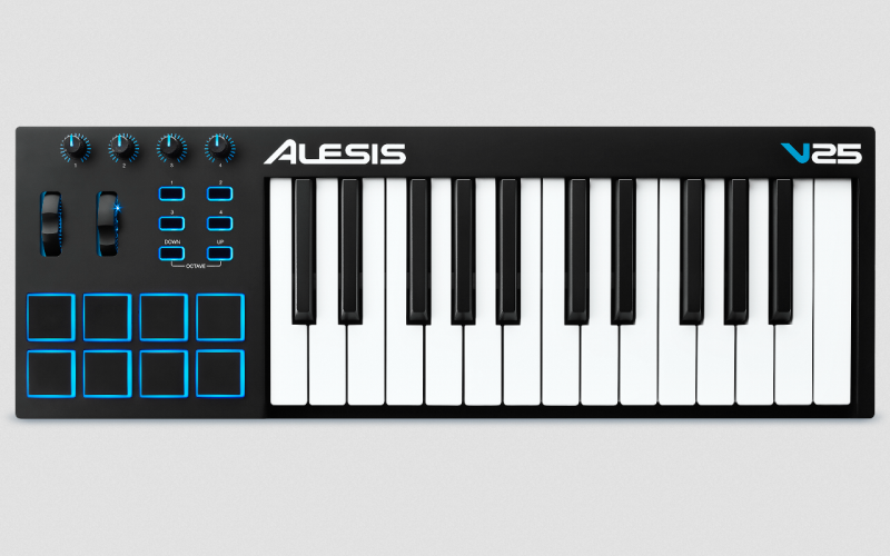 Alesis V25 - 25-tastiges USB Midikeyboard mit Pads
