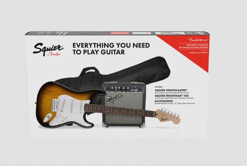 Squier by Fender Squier Strat SSS BSB Pack mit 10G Verstärker