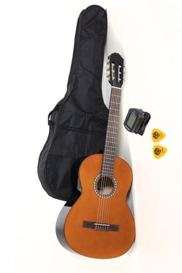 VGS Basic Set Konzertgitarre 4/4 inkl. Tasche,Tuner und Plektren