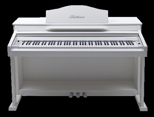 Bluethner Blüthner E-Klavier E1 Lack weiss satiniert