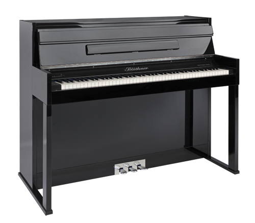 Bluethner Blüthner E-Klavier Modell E2 schwarz hochglanz Lack