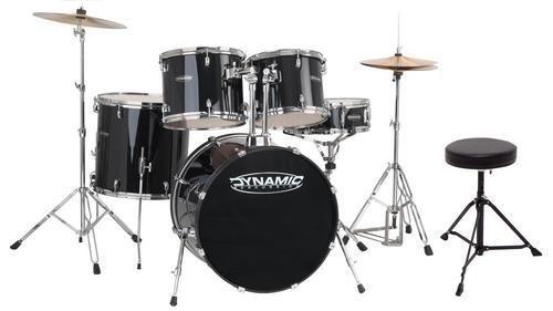 GEWApure Drumset Dynamic One inkl. Becken, Hocker und Pedal